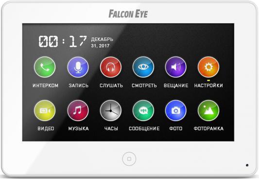 Видеодомофон Falcon Eye FE-70 CAPELLA DVR (White) дисплей 7 TFT; сенсорный экран; подключение до 2-х вызывных панелей и до 2-х видеокамер; адресный видеодомофон kenwei kw e705fc white