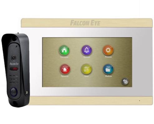 Комплект видеодомофона Falcon FE-ARIES white + FE311A Видеодомофон: дисплей 7 TFT; сенсорный экран; подключение до 2-х вызывных панелей и до 2-х вид видеодомофон kenwei kw e705fc white