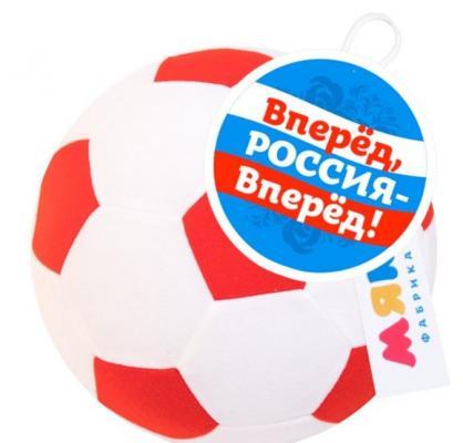 Попрыгун МЯКИШИ Футбольный мяч бело-красный от 3 лет 445 мяч футбольный novus crystal р 4 бело сине красный