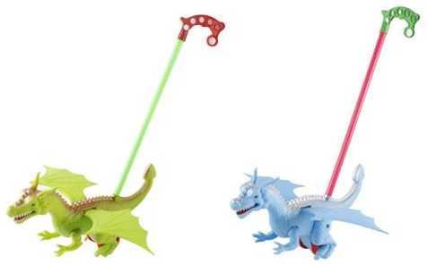 Каталка на палочке Наша Игрушка Динозавр цвет в ассортименте от 1 года пластик 198-10 каталка детская наша игрушка барабан с шариком в ассортименте