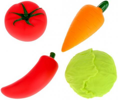 Игрушки пластизоль д/купания Играем вместе Овощи (капуста+морковь+томат+перец) в сетке в кор2*25шт игрушки пластизоль для купания играем вместе мимимишки лисичка и тучка в сетке в кор 50шт
