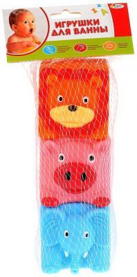 Игрушки пластизоль для купания Играем вместе 3 кубика (DEC) пищалка в сетке (русс уп) в кор.2*25шт игрушки пластизоль для купания играем вместе мимимишки лисичка и тучка в сетке в кор 50шт
