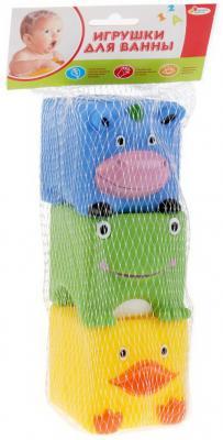Игрушки пластизоль для купания Играем вместе 3 кубика (ABF) пищалка в сетке (русс уп) в кор.2*25шт игрушки пластизоль для купания играем вместе мимимишки лисичка и тучка в сетке в кор 50шт
