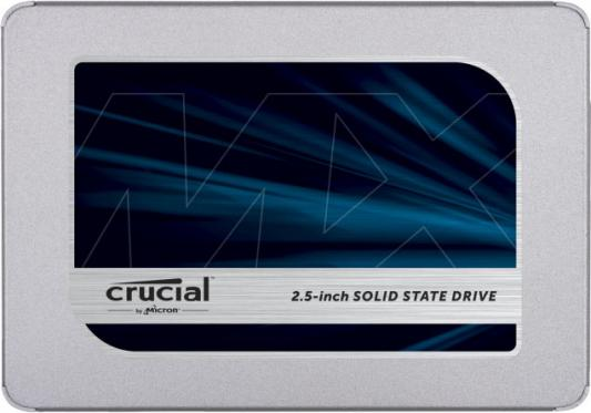 Твердотельный накопитель SSD 2.5 500 Gb Crucial MX500 Read 560Mb/s Write 510Mb/s 3D NAND TLC твердотельный накопитель ssd 2 5 120 gb qumo novation mm read 510mb s write 140mb s mlc qmm 120gsn