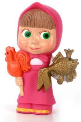 Резиновая игрушка для ванны ИГРАЕМ ВМЕСТЕ МАША С ЛЕДЕНЦОМ И РЫБКОЙ цена