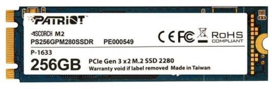Накопитель SSD Patriot PCI-E x2 256Gb PS256GPM280SSDR Scorch M.2 2280