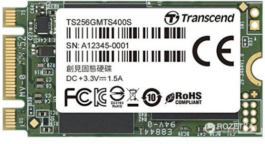 Накопитель SSD M.2 256 Gb Transcend TS256GMTS400S Read 560Mb/s Write 320Mb/s MLC