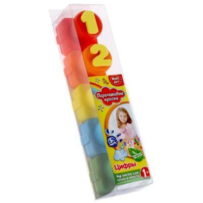 Купить Пальчиковые краски Multi Art Цифры 5 цветов 1515-NR, MultiArt, Прочие краски