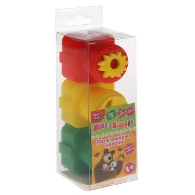 Купить Пальчиковые краски Multi Art Маша и Медведь 3 цвета 1530-MM, MultiArt, Прочие краски