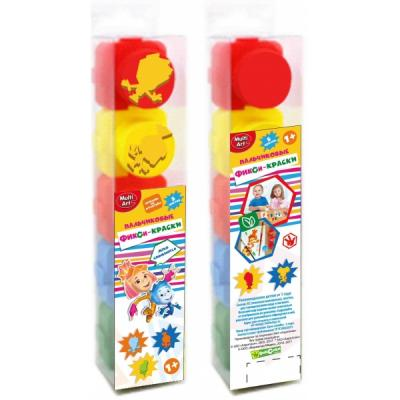 Пальчиковые краски Multi Art Фиксики 5 цветов 1515-FIX