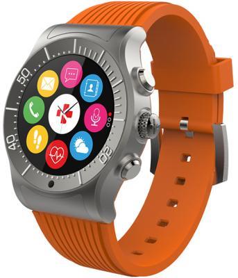 Смарт часы MyKronoz ZeSport цвет титаниум/оранжевый цена и фото