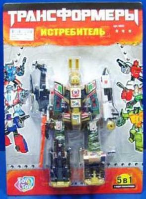 Купить Робот-трансформер PLAYSMART РОБОТ ИСТРЕБИТЕЛЬ 5-В-1 8000 G017-H21046, Игрушки Роботы