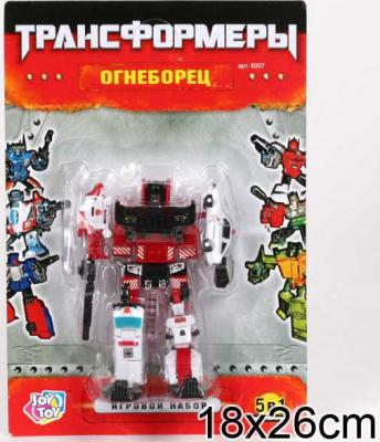 Робот-трансформер PLAYSMART РОБОТ ОГНЕБОРЕЦ 5-В-1 G017-H21053 робот трансформер playsmart робот истребитель 5 в 1 g017 h21047