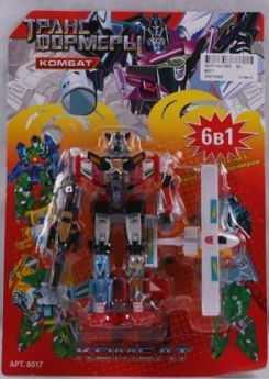 Робот-трансформер PLAYSMART РОБОТ КОМБАТ, С САМОЛЕТОМ, 6-В-1 G017-H21063 робот трансформер playsmart робот истребитель 5 в 1 g017 h21047