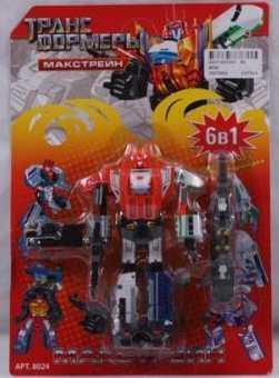 Купить Робот-трансформер PLAYSMART РОБОТ МАКСТРЕЙН 6-В-1 G017-H21070, Игрушки Роботы
