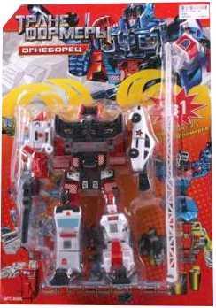 Купить Робот-трансформер Tongde РОБОТ ОГНЕБОРЕЦ 5-В-1 G017-H21054, Игрушки Роботы