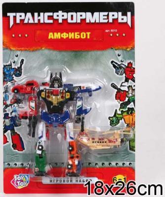 Купить Робот-трансформер PLAYSMART РОБОТ АМФИБОТ 6-В-1 G017-H21061, Игрушки Роботы