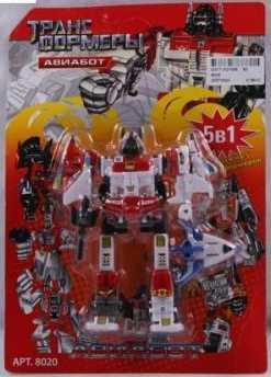 Купить Робот-трансформер PLAYSMART РОБОТ АВИАБОТ 5-В-1 G017-H21066, Игрушки Роботы