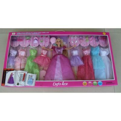 Кукла DEFA LUCY КУКЛА С НАБОРОМ ОДЕЖДЫ 35 см 8266 кукла defa lucy модная green