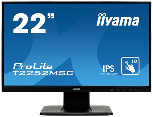 Монитор Iiyama 21.5 ProLite T2252MSC-B1 черный IPS LED 7ms 16:9 HDMI M/M матовая 1000:1 250cd 178гр/178гр 1920x1080 D-Sub DisplayPort FHD Touch 4.8кг монитор iiyama 21 5 prolite t2253mts b1 черный tn led 2ms 16 9 dvi hdmi m m матовая 1000 1 250cd 170гр 160гр 1920x1080 d sub fhd usb touch 5 6кг