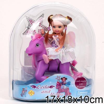 Купить Кукла DEFA LUCY КУКЛА С ЛОШАДКОЙ 18 см 61008A, пластик, текстиль, Классические куклы и пупсы