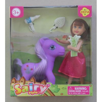 Кукла DEFA LUCY Малышка-кукла с лошадкой 15 см 8303A кукла yako m6579 6