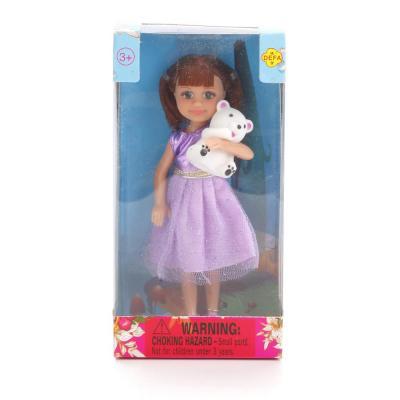 Купить Кукла DEFA LUCY КУКЛА С МИШКОЙ 15 см 8280, пластик, текстиль, Классические куклы и пупсы