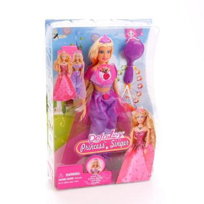 Кукла DEFA LUCY Принцесса-певица 32 см со звуком светящаяся 8265 кукла defa lucy 8296a