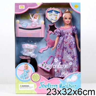 Кукла DEFA LUCY БЕРЕМЕННАЯ (СЪЕМНЫЙ ЖИВОТ) + 2 РЕБЕНКА 8009 кукла defa lucy 8296a
