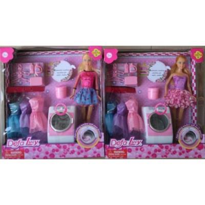 Кукла DEFA LUCY КУКЛА СО СТИРАЛЬНОЙ МАШИНКОЙ со звуком DF8323 кукла defa lucy принцесса 8269