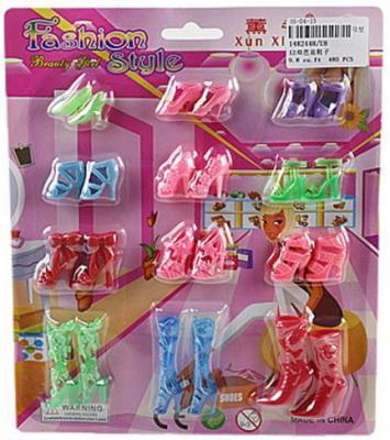 Купить Набор обуви для кукол 12 пар, блистер, Наша Игрушка, Аксессуары для кукол