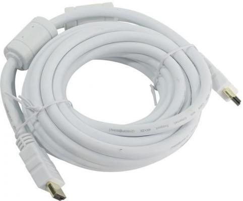 Кабель HDMI 5м AOpen ACG711DW-5M круглый белый аксессуар aopen hdmi 19m ver 2 0 5m white acg711dw 5m