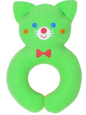 Мягкая игрушка кот МЯКИШИ Мистер Том трикотаж зеленый 14 см