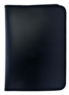 Папка для тетрадей SPONSOR ф. A4, молн с 3-х стор. , пластик, черная SFZA4-A-BK шариковая ручка автоматическая sponsor slp013a bk синий