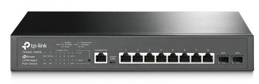 Коммутатор TP-LINK T2500G-10MPS JetStream 8-портовый гигабитный управляемый коммутатор PoE+ 2 уровня с 2 SFP-слотами коммутатор tp link t3700g 52tq jetstream 52 портовый гигабитный управляемый стекируемый коммутатор 3 уровня