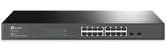 Коммутатор TP-LINK T1600G-18TS JetStream 16-портовый гигабитный Smart коммутатор с 2 SFP-слотами T1600G-18TS (TL-SG2216) цены онлайн