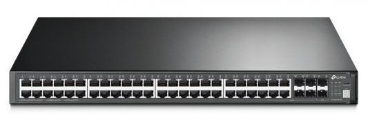 Фото - Коммутатор TP-LINK T3700G-52TQ JetStream 52-портовый гигабитный управляемый стекируемый коммутатор 3 уровня медиаконвертер tp link mc220l 1000mbit rj45 sfp minigbic ieee 802 3ab ieee 802 3z