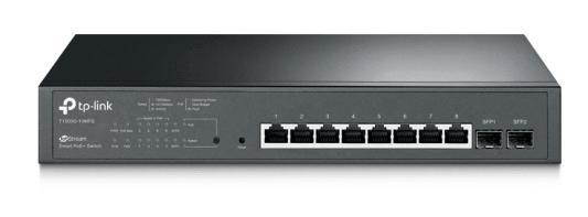 Фото - Коммутатор TP-LINK T1500G-10PS JetStream гигабитный 8-портовый Smart коммутатор PoE с 2 SFP-слотами коммутатор tp link t1700x 16ts jetstream 12 портовый 10gbase t smart коммутатор с 4 слотами 10g sfp