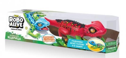 Игрушка Робо-ящерица красная zuru интерактивная игрушка zuru робо змея красная движение