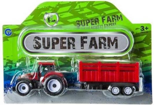 Купить Трактор Zhorya Трактор с прицепом цвет в ассортименте В85782, Детские модели машинок