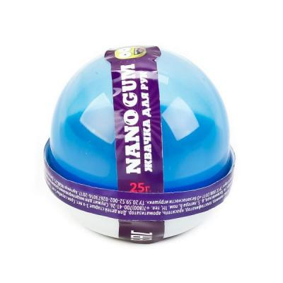 ПЛАСТИЛИН ДЛЯ ЛЕПКИ ЖВАЧКА ДЛЯ РУК NANO GUM, СВЕТИТСЯ В ТЕМНОТЕ СИНИМ, 25 ГР. в кор.80шт пластилин smart gum 80гр светится в темноте