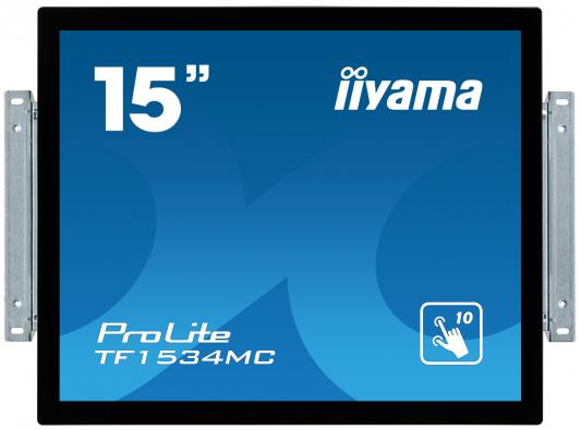 Монитор Iiyama 15 TF1534MC-B5X черный TN LED 8ms 4:3 HDMI матовая 700:1 370cd 170гр/160гр 1024x768 D-Sub DisplayPort HD READY Touch 1024x768 high resolution 4 3 mini 8 inch vga touch monitor hdmi monitor with resistive touch screen