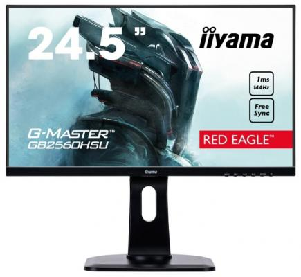 Монитор 25 iiYama GB2560HSU-B1 черный TN 1920x1080 400 cd/m^2 1 ms HDMI DisplayPort Аудио USB монитор 27 iiyama prolite e2783qsu b1 черный tn 2560x1440 350 cd m^2 1 ms dvi hdmi displayport аудио usb