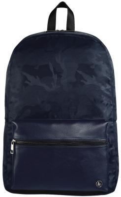 Рюкзак для ноутбука 15.6 HAMA Mission Camo полиэстер полиуретан синий камуфляж 00101844 рюкзак hama sweet owl pink blue