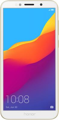 Смартфон Honor 7A 16 Гб золотистый (51092MUV) смартфон honor 10 64 гб черный 51092jvu