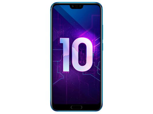 Смартфон Honor 10 128 Гб синий (51092JYQ) смартфон honor view 20 128gb сапфировый синий
