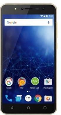 Смартфон Vertex Impress New 16 Гб золотистый (VNW-GLD) смартфон vertex impress fortune 4g 16 гб золотистый frtn gld