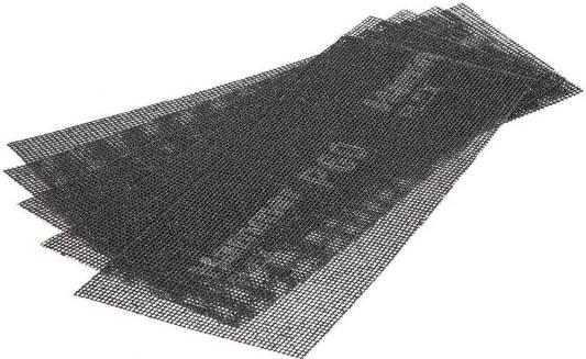 Сетка абразивная Hammer Flex 242-002 115х280мм, P60, водостойкая (5шт.) шкурка шлифовальная в рулоне hammer flex 216 002
