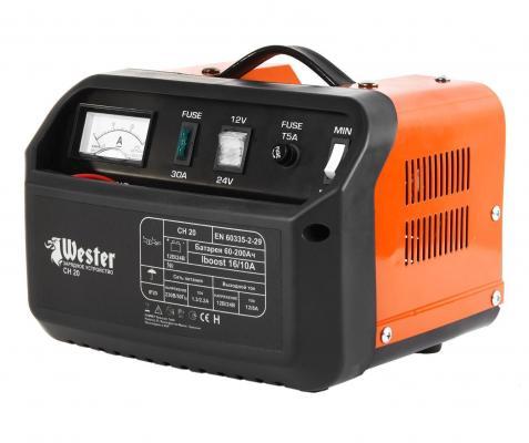 Зарядное устройство WESTER CH20 для АКБ 300Вт 12/24В 16/10А устройство зарядное wester ch15