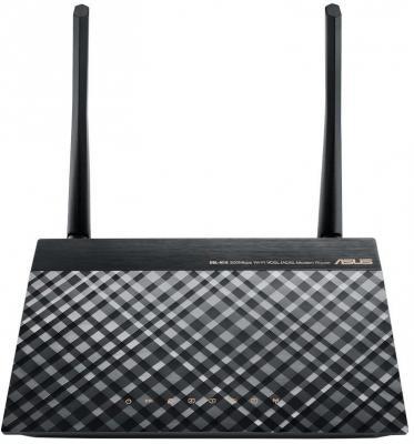 Маршрутизатор ASUS DSL-N16 802.11bgn 100Mbps 2.4 ГГц 4xLAN LAN черный